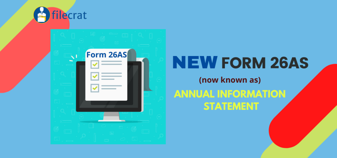New Form 26AS – Annual Information Statement from 1st June 2020